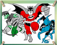 Batman and Robin coloring game j�t�k