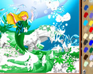 Little Mermaid online coloring sz�nez� kifest� j�t�kok