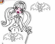 Monster High coloring Draculaura sz�nez� kifest� j�t�kok