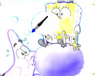 Spongebob and Patrick coloring game j�t�k