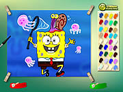 Spongebob with jelly fish online j�t�k