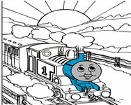 Thomas the tank engine online coloring j�t�k